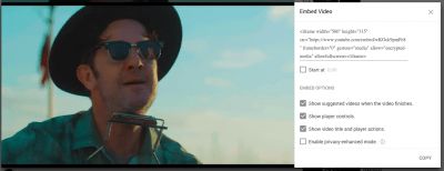 embed youtube video wordpress
